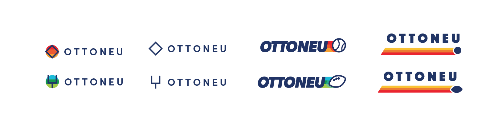 Four different variations of the Ottoneu logo