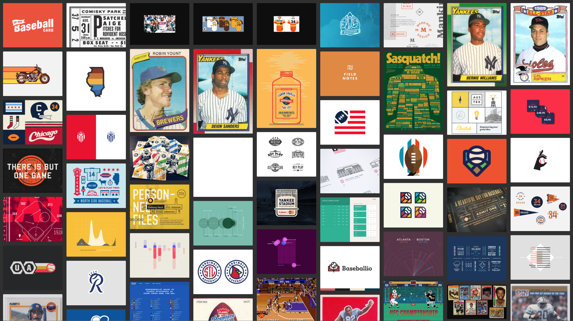 A moodboard with several differnt images mostly reflective of sports